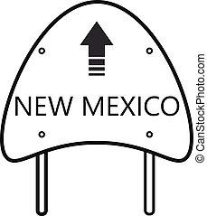 nouveau, état, mexique, panneaux signalisations