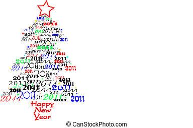 nouveau, 2011, arbre, année