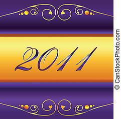 nouveau, 2011, carte, années