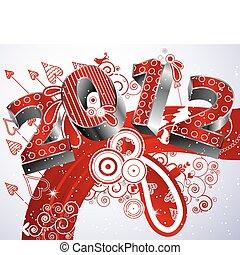 nouveau, 2012, heureux, année