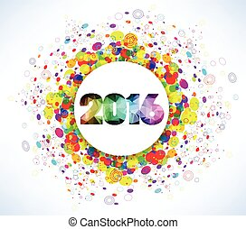 nouveau, 2016, heureux, célébration, année