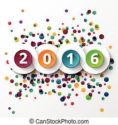 nouveau, 2016, heureux, celebration., année
