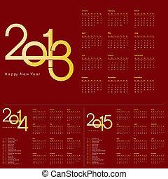 nouveau, année civile