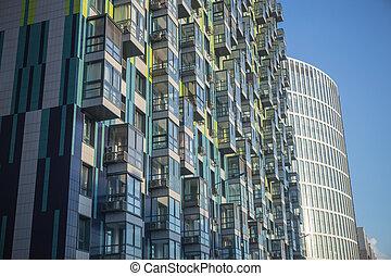 nouveau, appartement, moderne, bâtiments