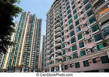 nouveau, bâtiments, appartement
