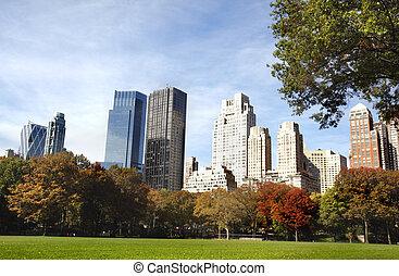 nouveau, bâtiments, york, ville