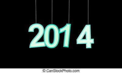 nouveau, célébration, 2014, luma, année