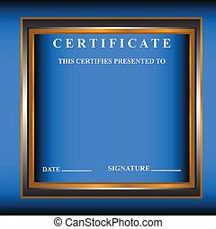 nouveau, certificat