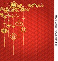 nouveau, chinois, fond, année