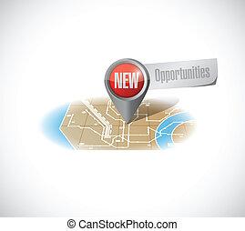 nouveau, conception, occasions, illustration, carte