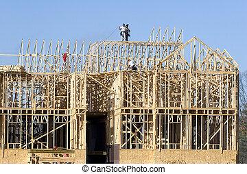nouveau, construction, 2, encadrement