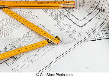 nouveau, construction, bâtiment, maison
