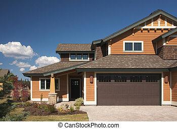 nouveau, construction, coloré, maison