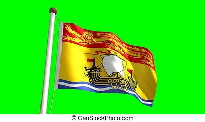 nouveau, drapeau, brunswick