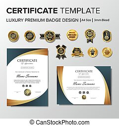 nouveau, gabarit, certificat