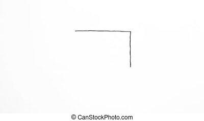 nouveau, hand-drawn, message