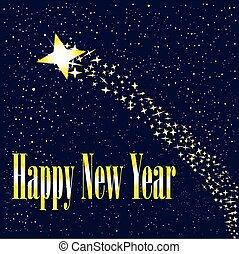nouveau, levée, étoile, année