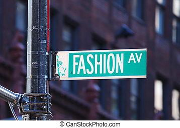 nouveau, mode, avenue, york, ville
