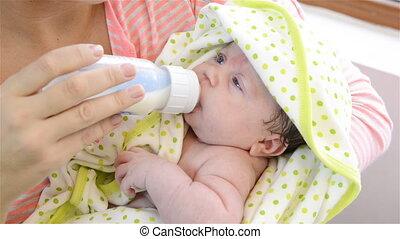 nouveau-né, alimentation, baby.