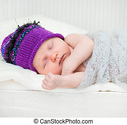 nouveau-né, girl, heureux