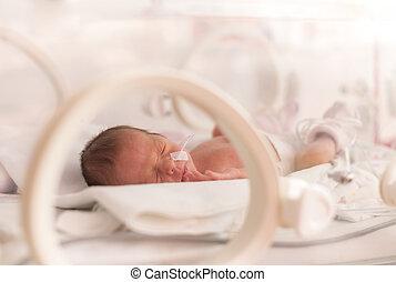nouveau-né, girl, prématuré