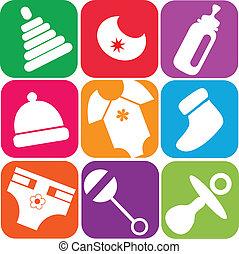 nouveau-né, jouets, accessoires, icônes