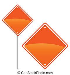 nouveau, panneaux signalisations