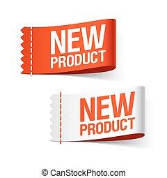 nouveau produit, étiquettes