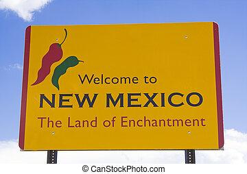 nouveau, signe, wecome, mexique