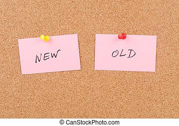 nouveau, vieux, mots