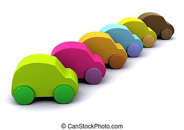 nouveau, voitures