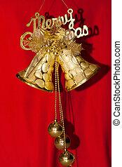 nouveau, year., noël, bells., tinter