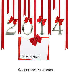 nouvel an, carte, 2014