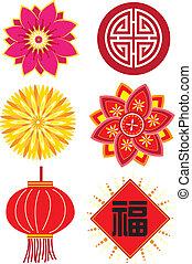 nouvel an, chinois, éléments