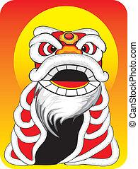 nouvel an, dragon chinois