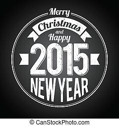 nouvel an, noir, noël, salutation