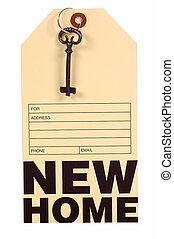 nouvelle maison, étiquette