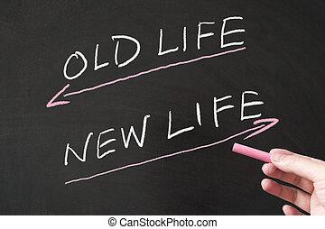 nouvelle vie, vs, vieux