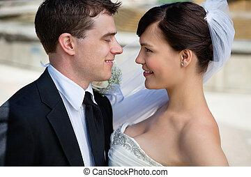 nouvellement marié, couple