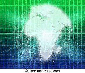 nouvelles, écran, éclaboussure, afrique