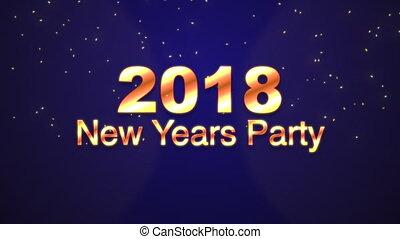 nouvelles années, 2018, fête