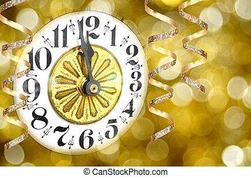 nouvelles années veille, horloge