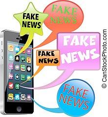 nouvelles, faux, intelligent, téléphone