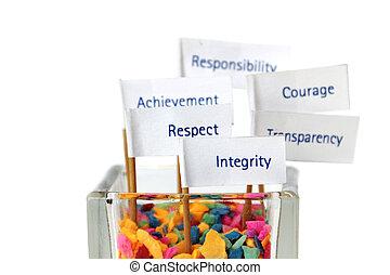 noyau, business, reussite, valeur, stratégie, clã©, factor, mission, vision