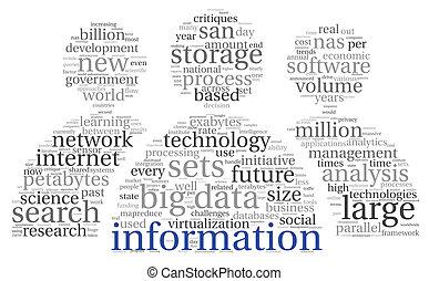 nuage, étiquette, innovation, concept, technologie