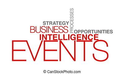 nuage, business, mot, intelligence