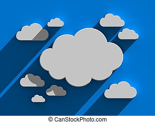 nuage, fond