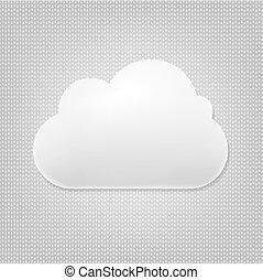 nuage, gris, fond, icône