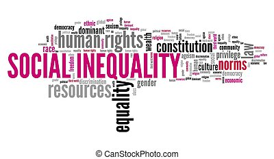nuage, inégalité, social, mot