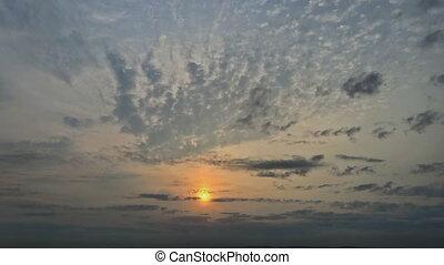 nuage, matin, levers de soleil, timelapse, ciel, nuages